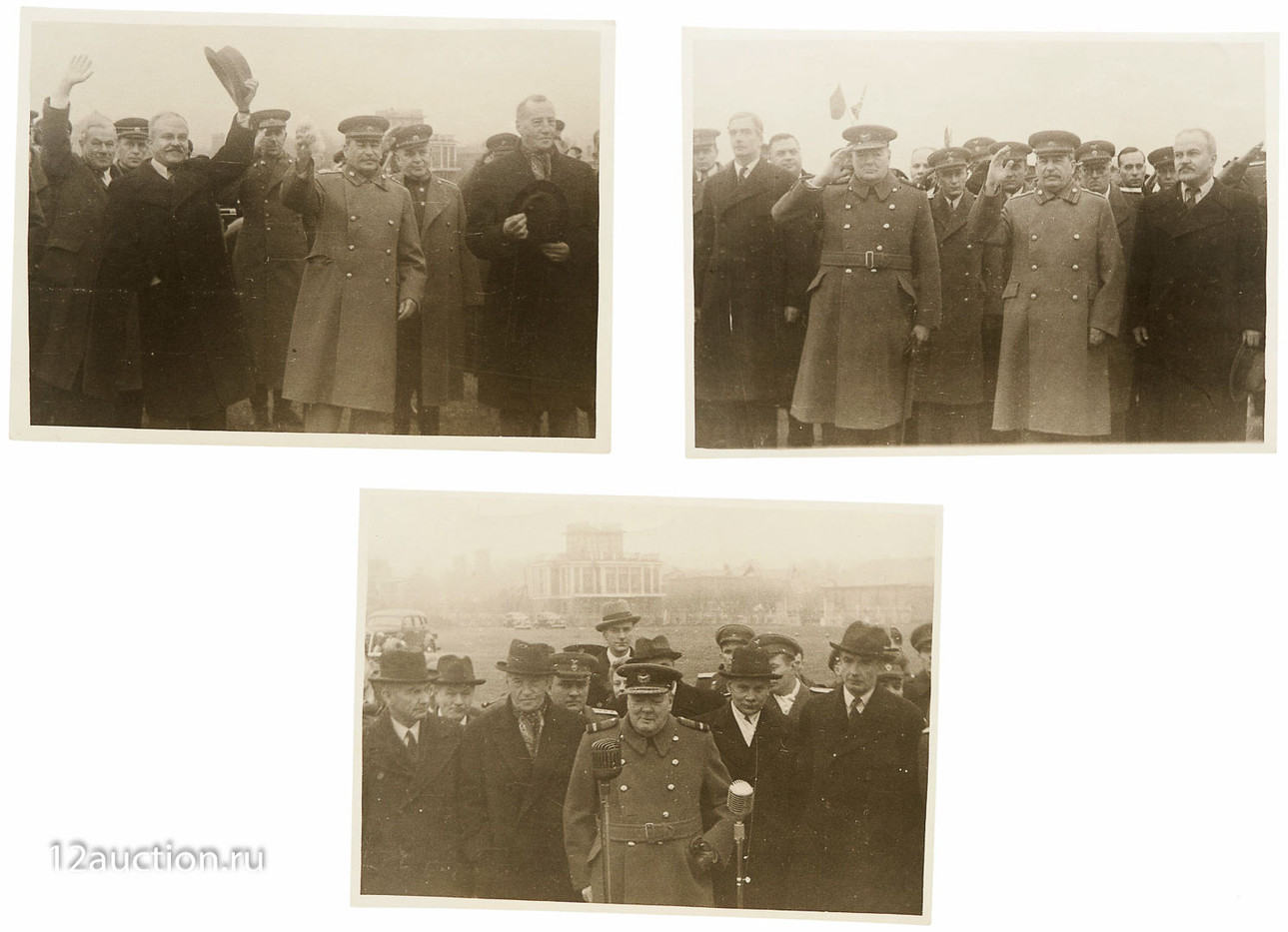 193. У. Черчилль, И. Сталин и