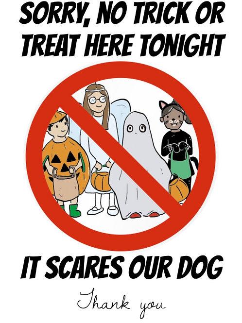 No Callers Halloween Sign