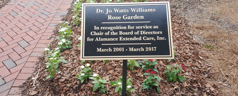 Jo Watts Williams Plaque