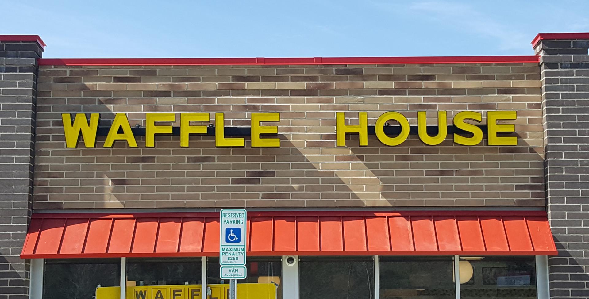 Waffle House Burlington Channel Letters