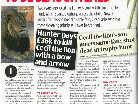 Claws Out in Closer Magazine!
