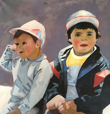 Guatemalan boys oil painting (2).JPG