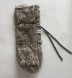 Faux Fur Wine Bag
