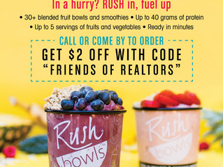 Coupon for Rush Bowls in Downtown Charleston
