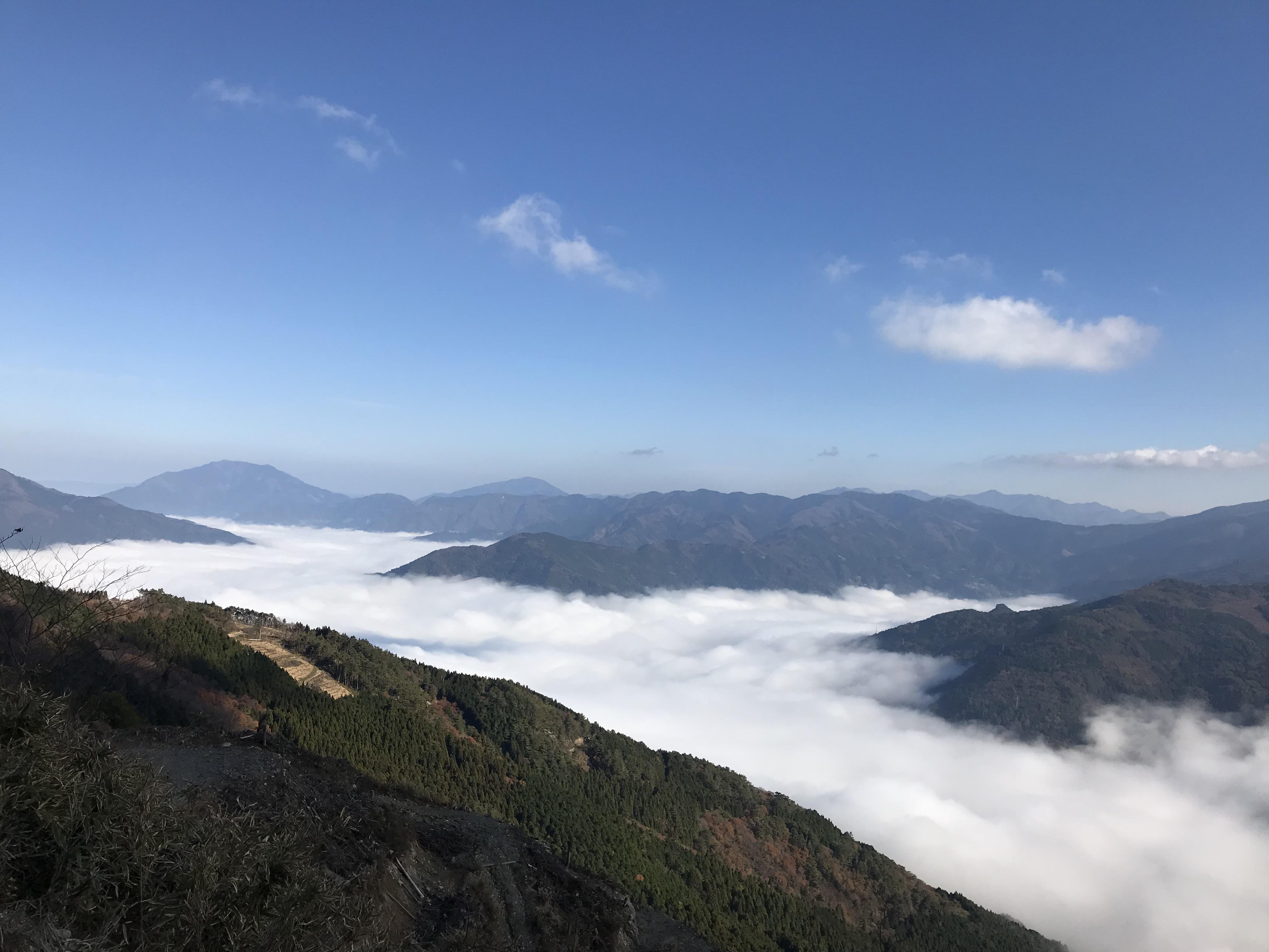 吉野川にかかる雲海