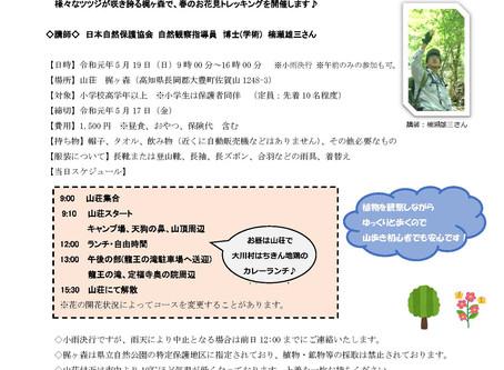 春の梶ヶ森トレッキングを開催します。