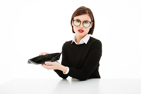 young-businesswoman-showing-empty-wallet