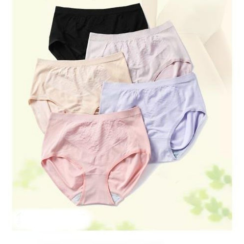 Bamboo fiber women's seamless patterned panties