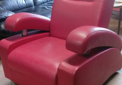 Beautiful Red Retro arm chair for sale at Manningtree Emporium