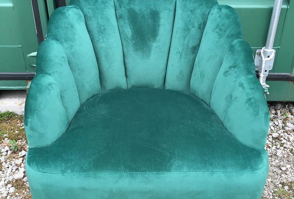 Art Deco scalloped shaped chair