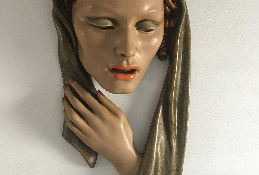 Art Deco Wall Mask