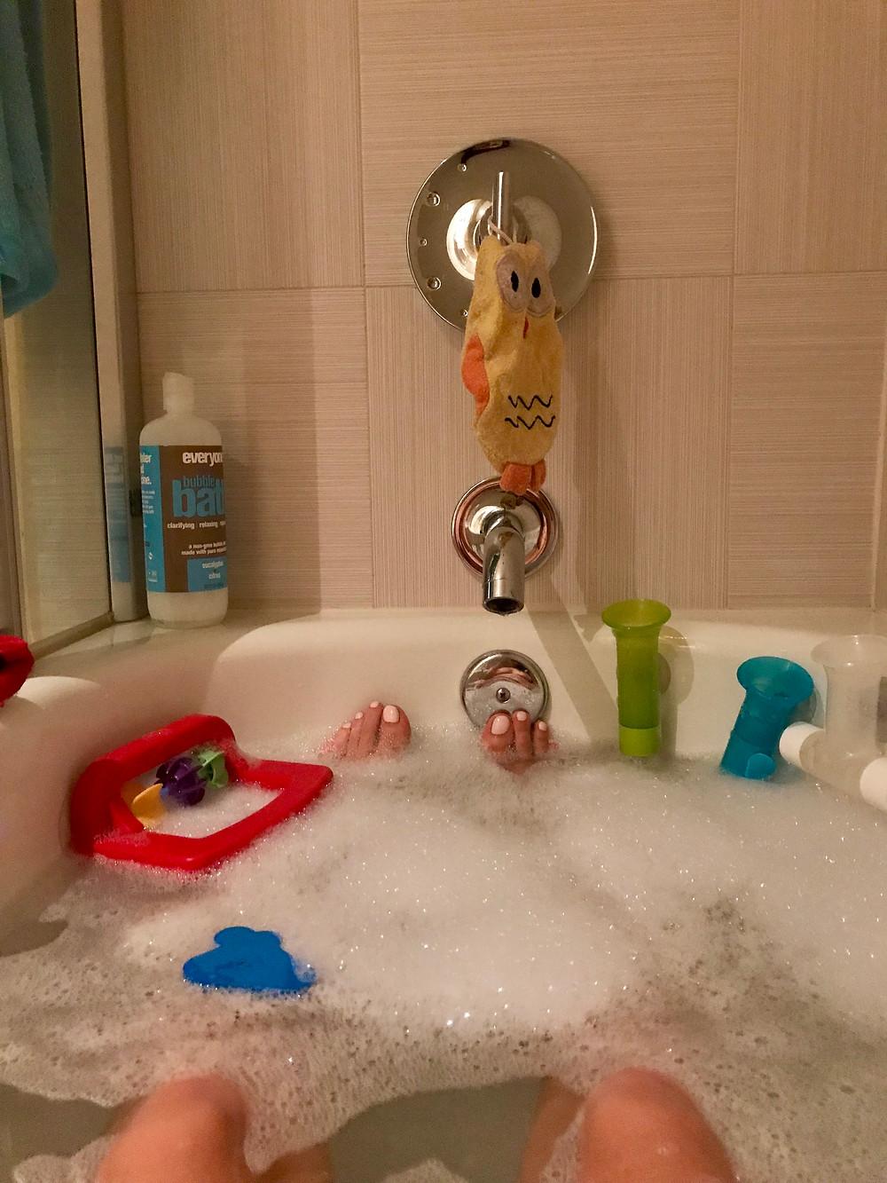 Julie in the bath