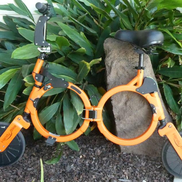 Orange Electric Bike.