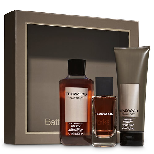 Managony Teakwood Bath and Body Works Box Gift Set