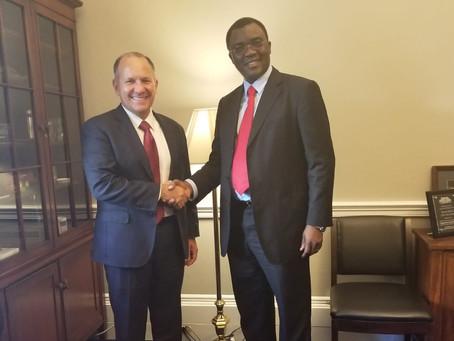 Dr. Richard Konteh met with Congressman Lloyd Kenneth Smucker