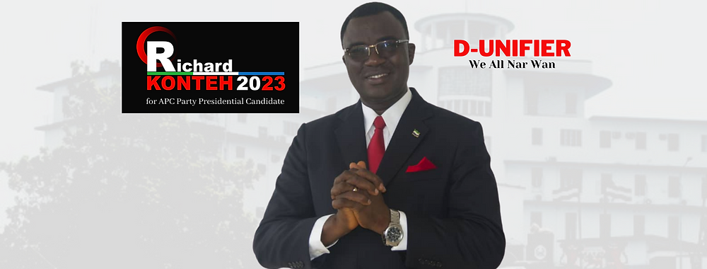 Dr. Richard Konteh (D-Unifier) launches his official campaign website for the 2023 APC Party Flagbearship (richardkonteh.com)