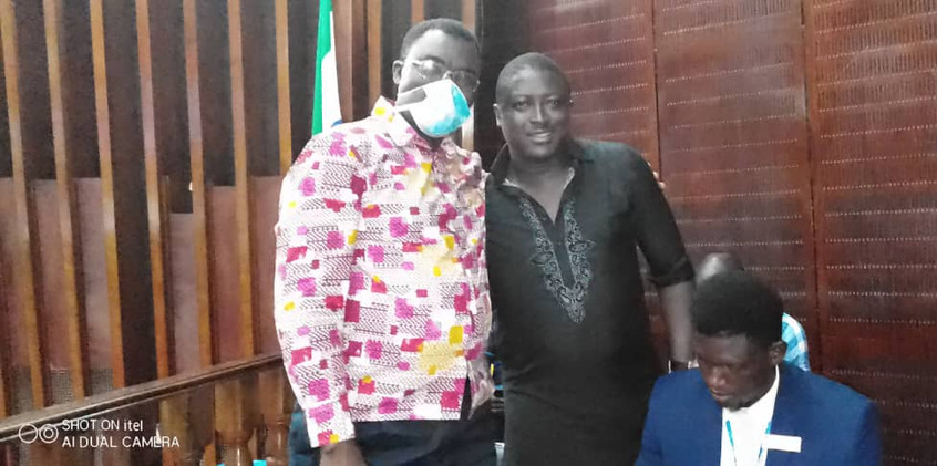 Dr. Richard Konteh in the House of Parliament to grace the occasion of Hon. Khadijatu Davies of Constituency 110.
