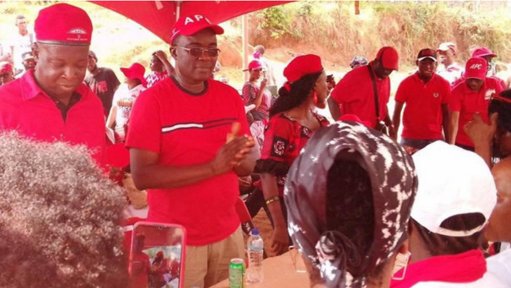 Dr. Richard Konteh during Constituency 110 re-election campaign.