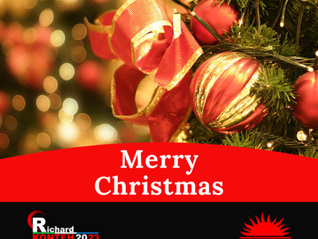 Christmas Greetings from Dr. Richard Konteh