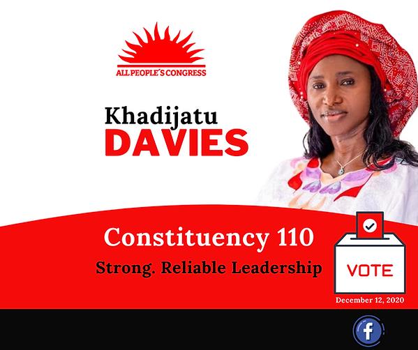 Dr. Richard Konteh endorses Kadie Davies