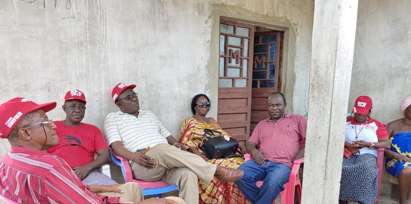 Dr. Richard Konteh visits Michael (APC member) in Bo