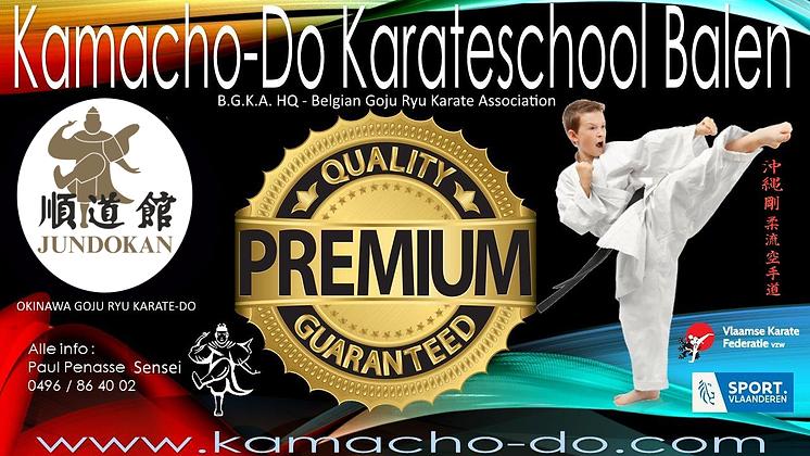 Karate - Jundokan - Kamacho-Do Balen - karateschool Balen - Karate Balen - Sporthal Bleukens