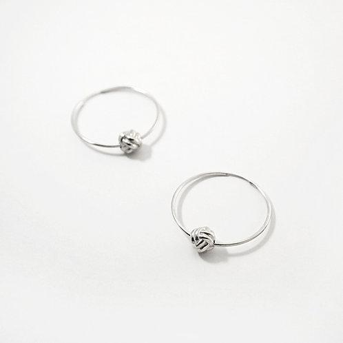 Monkey Paw Knot | Silver | Hoops