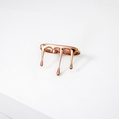 Rivulets | Rose Gold | Two Finger Ring