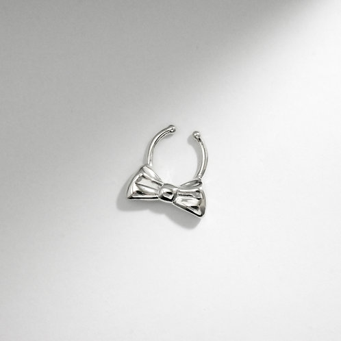 Bow | Silver | Septum Ring