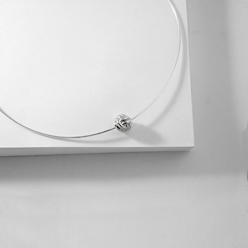 Monkey Paw Knot | Silver | Necklace