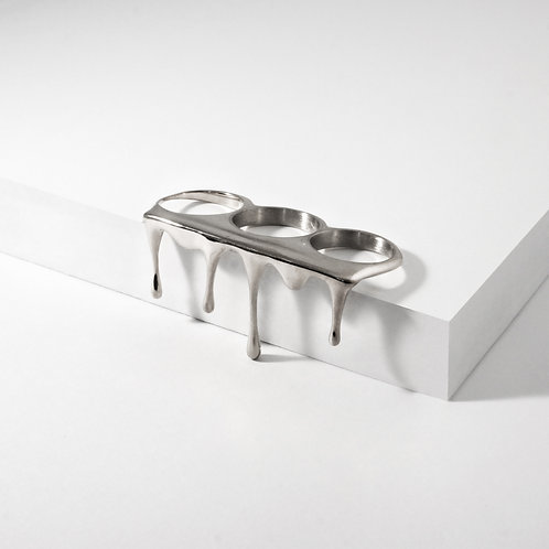 Rivulets | Silver | Three Finger Ring