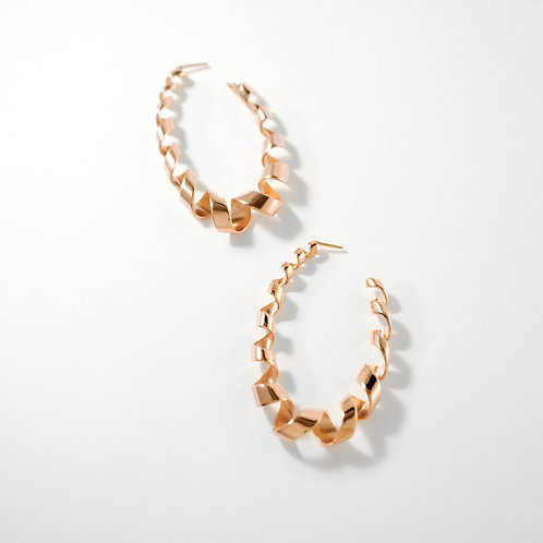 Loopty Loop | Rose Gold | Earrings