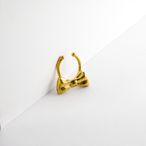 Bow | Gold | Septum Ring