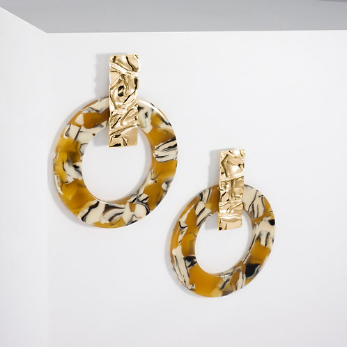 Dusty Sahara Hoops | Gold | Earrings