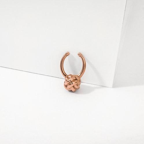 Monkey Paw Knot | Rose Gold | Septum Ring