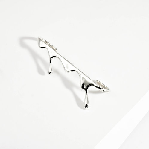 Dripping Ear Bar | Silver | Ear Cuff