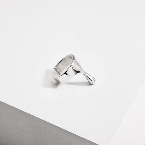 Dripping Ear Cuff | Silver | Earrings