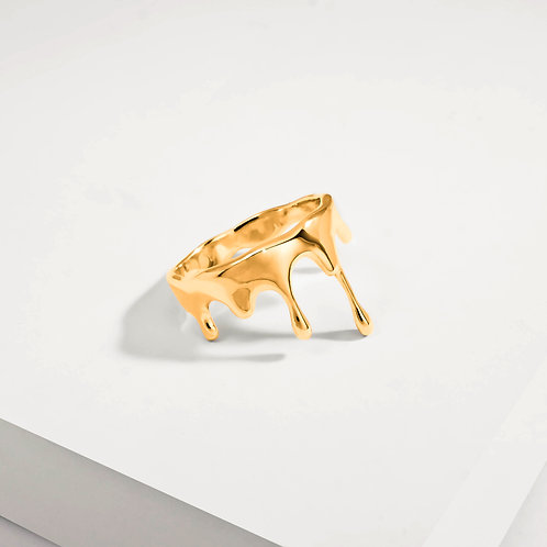 Rivulets Small   Gold   Ring