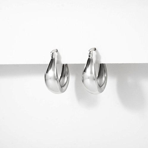 Bold Oval Hoops | Silver | Earrings