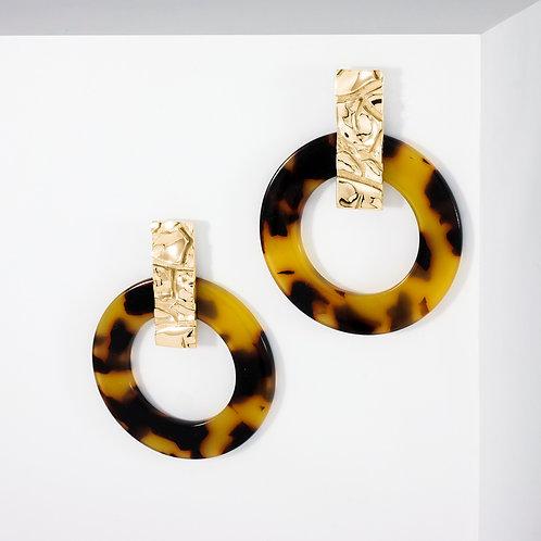 Dusty Gobi Hoops | Gold | Earrings