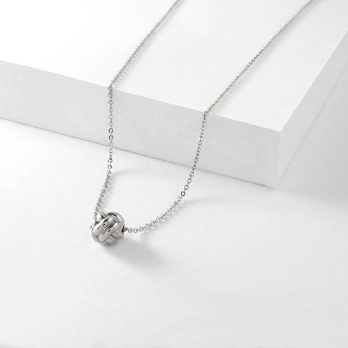 Monkey Paw Knot Charm | Silver | Necklace