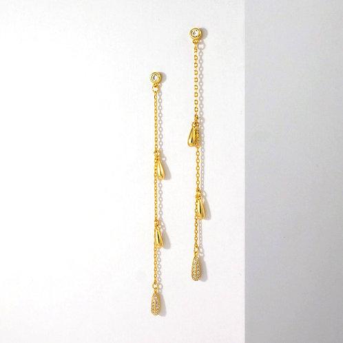 Dangling Droplets | Gold | Earrings