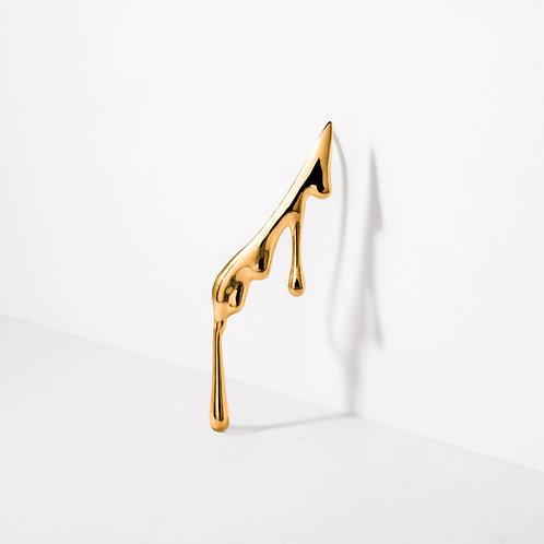 Dripping Ear Climber | Gold | Earrings