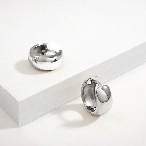 Bold Small Hoops   Silver   Earrings