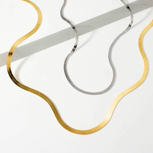 Herringbone Chain | Silver / Gold | Necklace