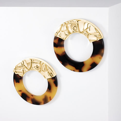 Parched Gobi | Gold | Earrings