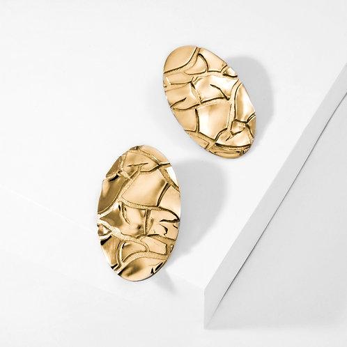 Barren   Gold   Earrings