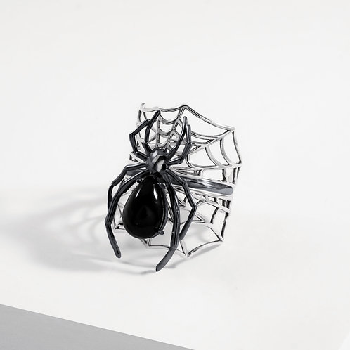 Spider & Web | Onyx | Stacking Rings​​​​​​​
