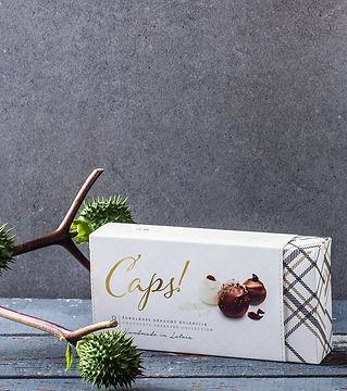 CAPS! chocolate truffle box