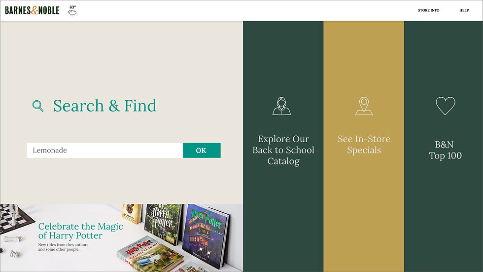 Barnes and Noble Redesigned kiosk